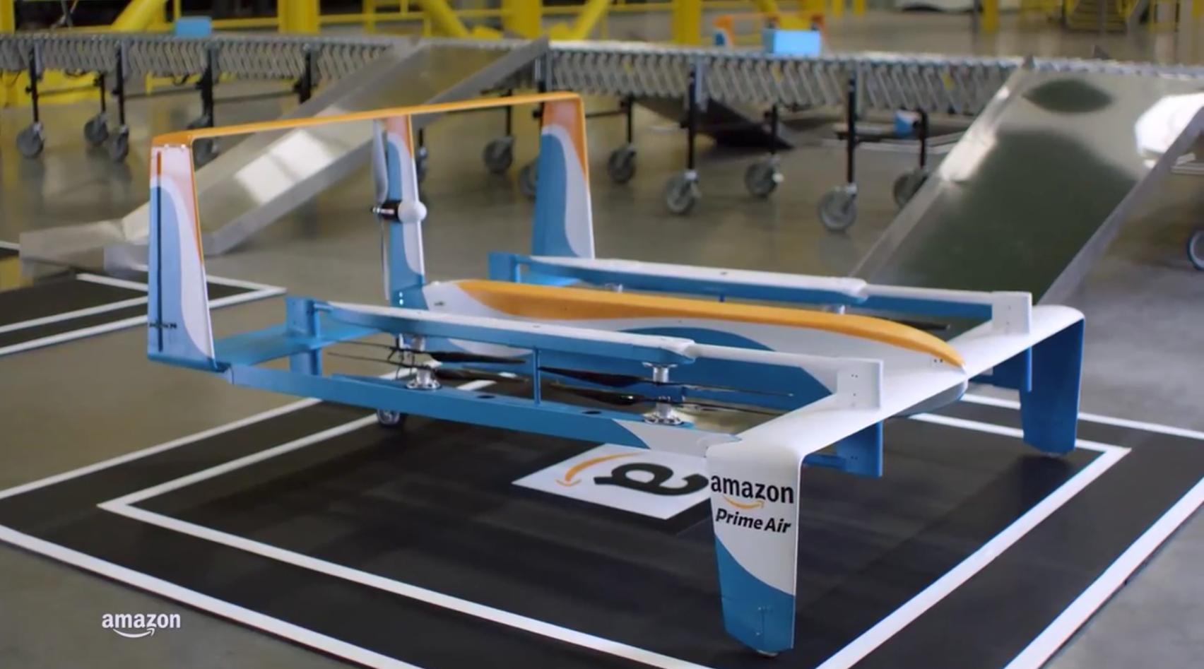 Amazon、Youtubeでドローンの新型の試作品を公開