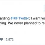 Twitter社の会長、自らの公式アカウントで来週からタイムラインが廃止されるという噂を完全否定