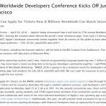 【決定】Apple、今年のWWDCは6月13日から開催すると発表