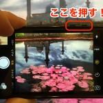 iPhoneのカメラのシャッターはボリュームボタンでも切ることができる!