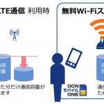 OCNモバイルONE、格安SIMユーザーを対象に無料Wi-Fiサービスを提供開始!