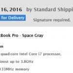 Touch Bar搭載MacBook Pro(Late 2016版)、アメリカで出荷開始!到着は11/14予定